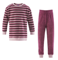 Organic Cotton Terry Shirt and Pants Set Color: wild berries