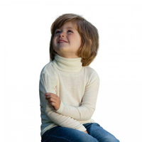 Children Polo-neck sweater  |  Organic Wool Silk