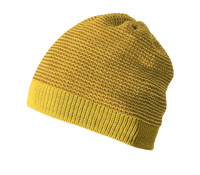 Organic Merino Wool Beanie Color: 978 Curry Gold