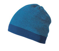 Organic Merino Wool Beanie Color: Blue Melange