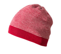 Organic Merino Wool Beanie Color: Red Melange