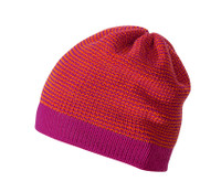 Organic Merino Wool Beanie Color: Berry Melange