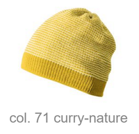 Organic Merino Wool Beanie Color: curry-nature