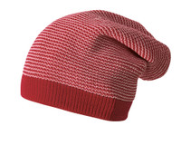 Merino Wool Long Beanie Color: 933 Bordeaux Rose