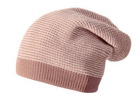 Merino Wool Long Beanie Color: 50 Rose Natural