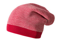 Merino Wool Long Beanie Color: Red Melange
