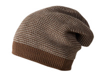 Merino Wool Long Beanie Color: Hazelnut Melange