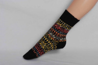 Organic Merino Wool Socks Color: 119 Black/Fancy