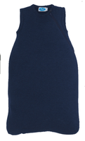 Organic Merino Wool Silk Sleep Sack Color: Navy