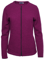 Organic Wool Fleece Jacket for Women Color: Berry