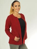 Organic Wool Fleece Jacket for Women