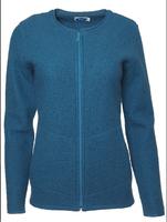 Organic Wool Fleece Jacket for Women Color: Pacific