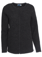 Organic Wool Fleece Jacket for Women Color: Anthracite