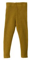 Organic Merino Wool Knitted Leggings Color: Gold