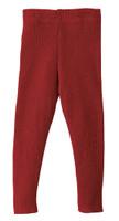 Organic Merino Wool Knitted Leggings Color: Bordeaux