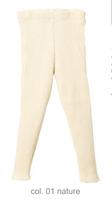 Organic Merino Wool Knitted Leggings Color: Natural