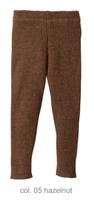 Organic Merino Wool Knitted Leggings Color: Hazelnut