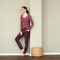 Organic cotton Sleep Shirt Color:  barolo stripe