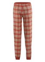 Women's Flannel Pyjamas Color: red clay/sand check