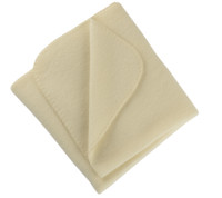 Organic Virgin Wool Fleece Blanket Color: 01 Natural