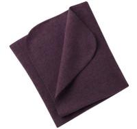 Organic Virgin Wool Fleece Blanket Color: 059E Purple Melange
