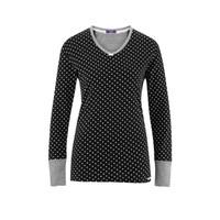 Organic Cotton Sleep Shirt Color: 751 black/dots