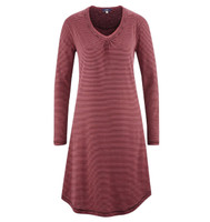 Women Night Dress Color: barolo stripe