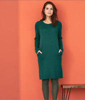 Organic Wool Dress Color: forest
