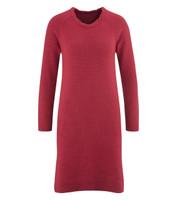 Organic Wool Dress Color: garnet red