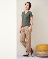 Women's Organic Linen Shirt Color: 57 khaki