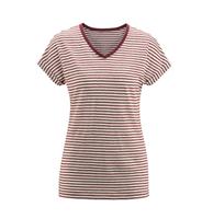 Women's Organic Linen Shirt Color: 554 off white/rosso