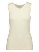 Ruskovilla Organic Merino Wool Silk Women Sleeveless Underwear Shirt