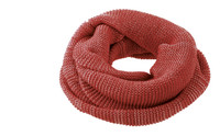 Organic Wool Loop Scarf Color: Bordeaux Rose