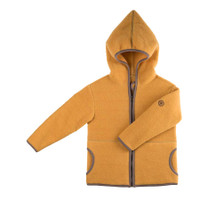 Organic Marino Wool Fleece Baby Jacket Color: 081 honey