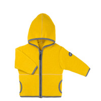 Organic Marino Wool Fleece Kids Jacket color: 09 lemon curry