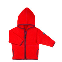 Organic Marino Wool Fleece Kids Jacket color: 15 rot