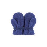 Baby Organic Wool Mittens Color: 304 blue print