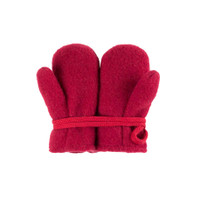Baby Organic Wool Mittens Color: 181 biking red