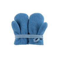 Baby Organic Wool Mittens Color: 392 ash blue