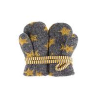 Baby Organic Wool Fleece Cotton Mittens  Color: 9608 schiefer-honig