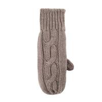 Women Organic Wool Mittens Color: 85 kaschmir