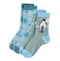 Kids Organic Cotton Sneaker Socks Color: 109 petrol/light blue
