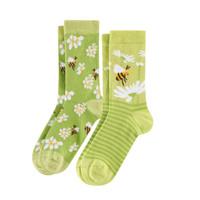 Kids Organic Cotton Sneaker Socks Color: 811 bee