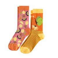 Kids Organic Cotton Sneaker Socks Color: 812 butterfly