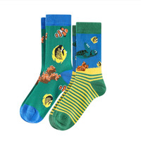 Kids Organic Cotton Sneaker Socks Color: 813 turtule
