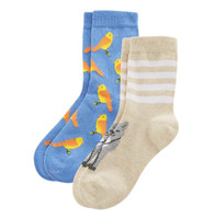 Kids Organic Cotton Sneaker Socks Color: cobalt/candy