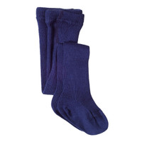 Kids Organic Cotton Tights Color: navy