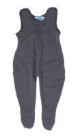 Baby Organic Wool / Silk Romper Color: Slate Grey