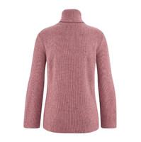 Womens Organic Wool Cotton Sweater Color: dark rose melange