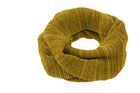 Organic Wool Loop Scarf Color: Curry Gold